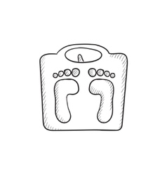 Weighing scale sketch icon vector