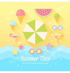 Summer flat card vector