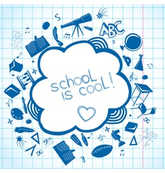 School accessories background vector