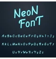 alphabet font Neon tube hand drawn script vector image vector image