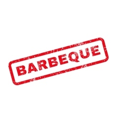 Barbeque text rubber stamp vector