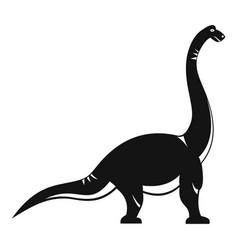 brachiosaurus dinosaur icon simple style vector image vector image