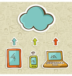 Cloud computing concept diagram vector image vector image