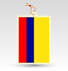 Colombian flag made in tag vector