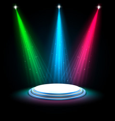 colorful glow spotlights background vector image vector image