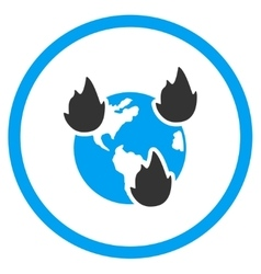 Earth Disasters Icon vector image vector image