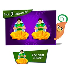 find 9 differences vector image vector image