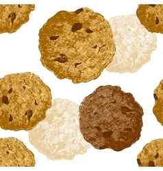 Hand drawn cookie seamless vector