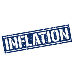 Inflation square grunge stamp vector
