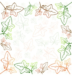 Multicolored ivy frame vector