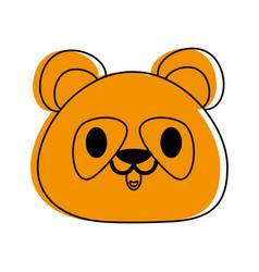 panda bear cute animal cartoon icon image vector image