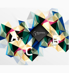polygonal triangle abstract background with vector image vector image
