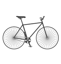 Retro classic road bike vector