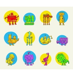 set of funny robots vector image