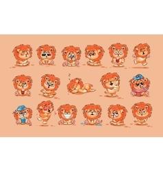 Set of lion cubs vector