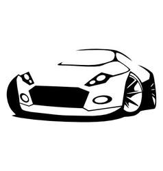Silhouette sports car vector