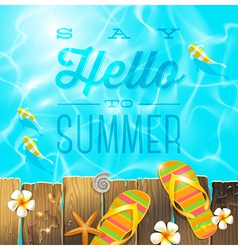 Summer holidays vacation greeting vector image