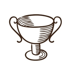 Trophy award symbol vector image vector image