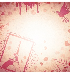 Vintage Romantic Background vector image vector image