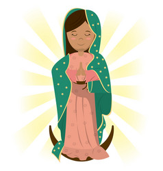 Virgin mary catholic prayer bless image vector