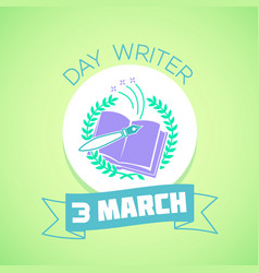 3 march day writer vector