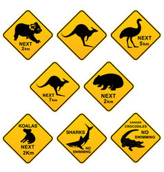 Australian roadsigns vector