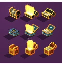 Chest set for game resource vector