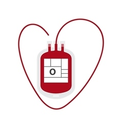 Blood bag flat icon vector