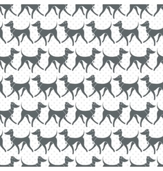 Seamless pattern with pretty walking vector