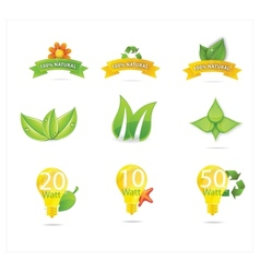 Green eco leafs vector