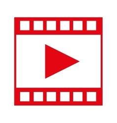 Video tape segment with play icon vector