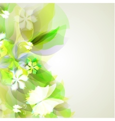 Abstract artistic Background with yellow and green vector image