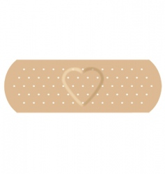adhesive bandage with love vector image