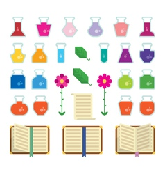 Alchemy icons vector