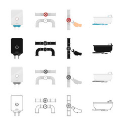 Appliances plumbing tools and other web icon in vector