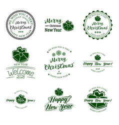 badges collection lettering vector image vector image