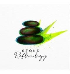 Beauty natural spa stone vector