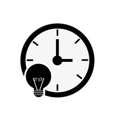 clock time icon design vector image