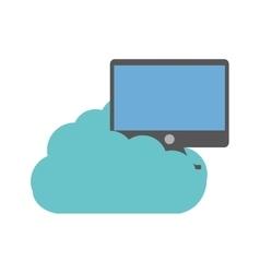 Cloud computer screen device technology vector