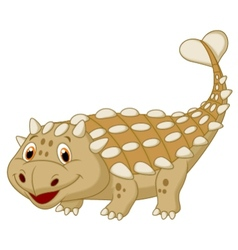 Cute dinosaur ankylosaurus cartoon vector