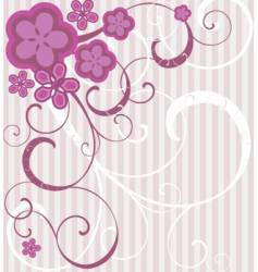 flowers and waves vector image vector image