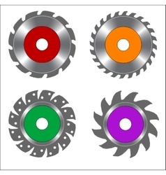Four types of circular saw blade vector