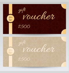 Gift voucher design with abstract pattern vector