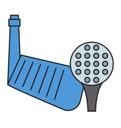 Golf putter and ball on white background vector