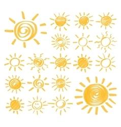 Highlighter sun set vector