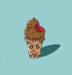 ice cream blood vector image