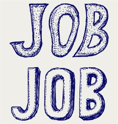 Job concept vector image vector image