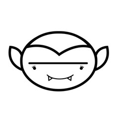 Line man face vampiere with fangs vector