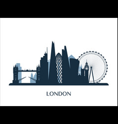 london skyline monochrome color vector image