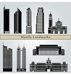 Manila landmarks and monuments vector image vector image